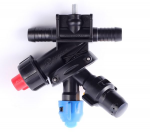 3-way nozzle holder (double hose connector, RAU-system)