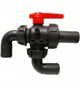 3-way on-pipe ball valve (Ø25, Ø32)