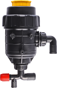 Suction filter with a shut-off valve