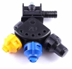 3-way pendulum nozzle holder (single hose connector, Arag-system)