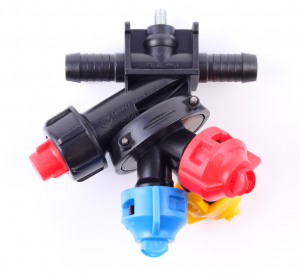 3-way nozzle holder (double hose connector, Arag-system)